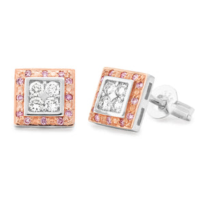 MMJ - Pink Diamond Bead Set Earring