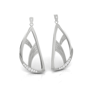 Elegance & Joy Flutter Large Drop Earrings