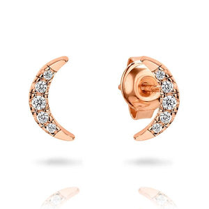 GEORGINI CALMA ROSE GOLD EARRINGS
