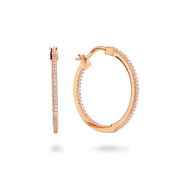GEORGINI VERONA ROSE GOLD HOOP 25MM