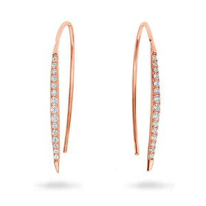 Georgini Carpo Rose Gold Earrings