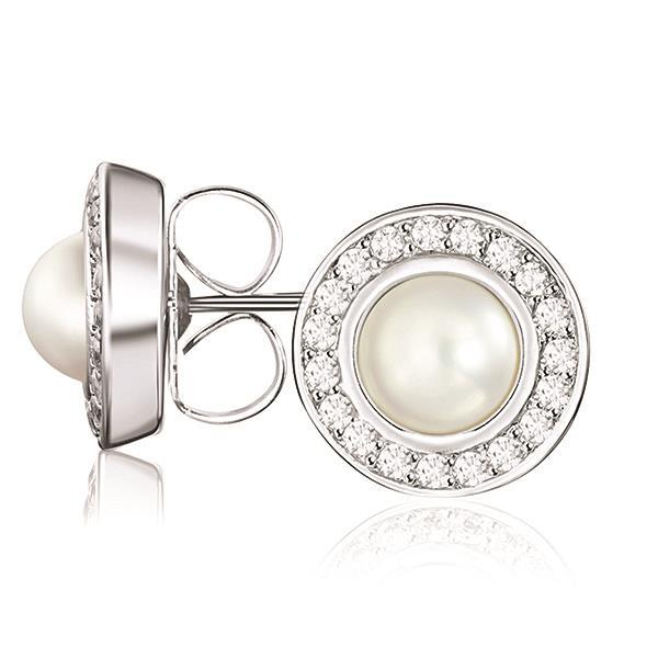 Kagi Pearl Orbit Studs (Small Earrings)