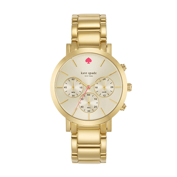 Kate Spade Gramercy Grand Gold Watch