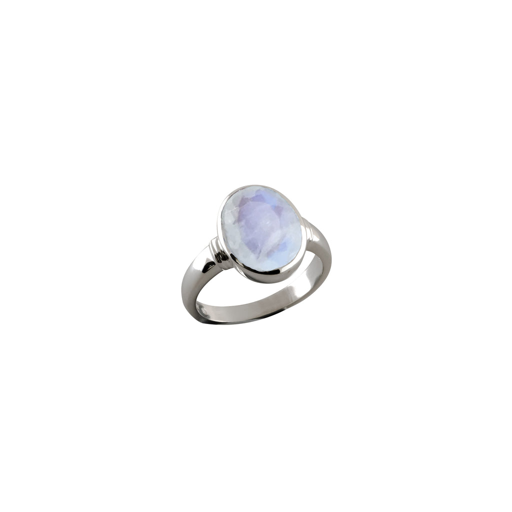 Von Treskow Large oval moonstone ring