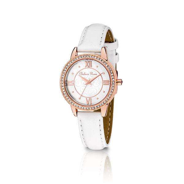 Chelsea Rose Rose-tone Clover Watch