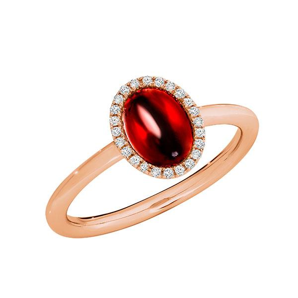 Temptation 9Ct Rose Gold Garnet Ring