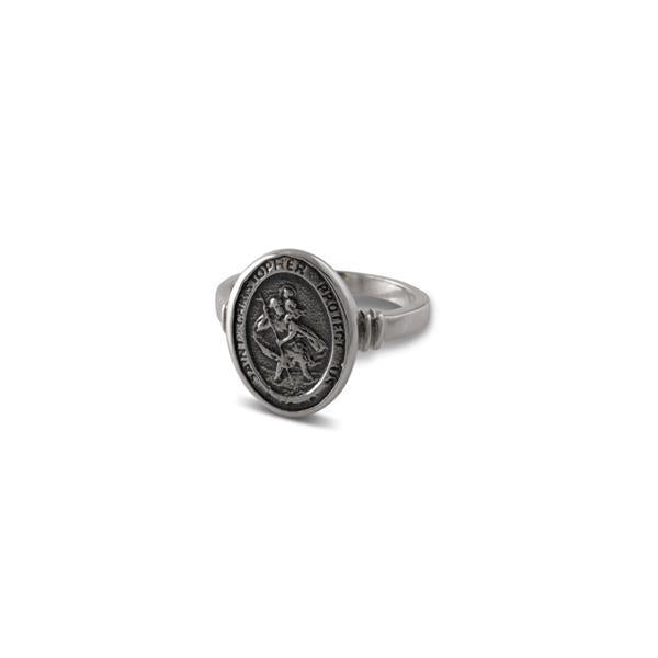 Sterling Silver St Christopher Ring- Von Treskow
