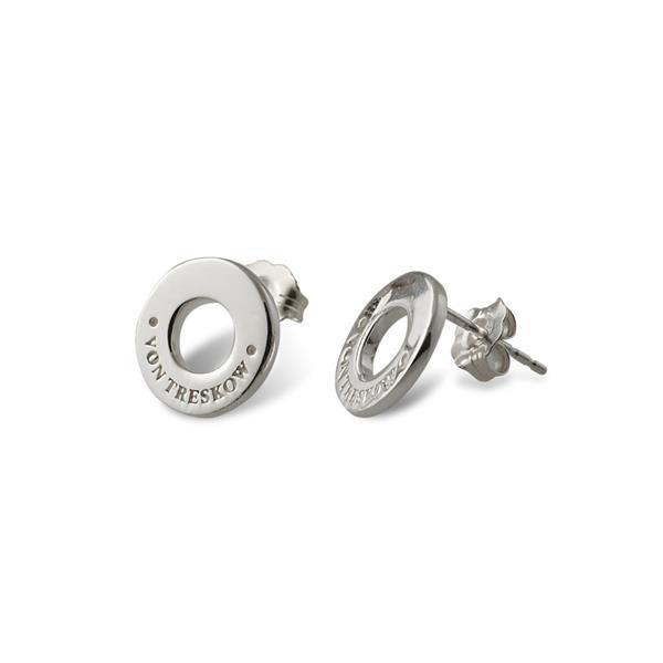 Von Treskow Sterling silver Von Treskow disc stud earrings