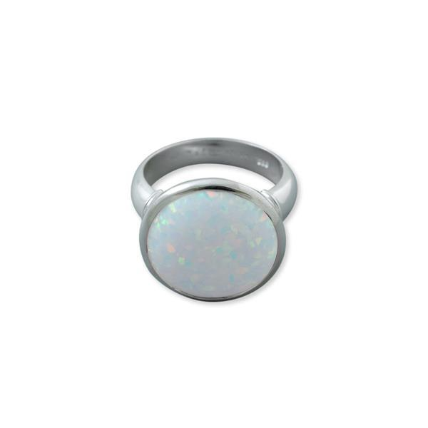Sterling silver large Czelline opal ring (19mm) - Von Treskow