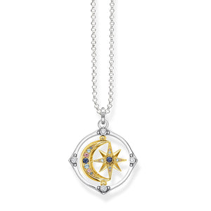 THOMAS SABO Necklace star & moon Gold 70cm
