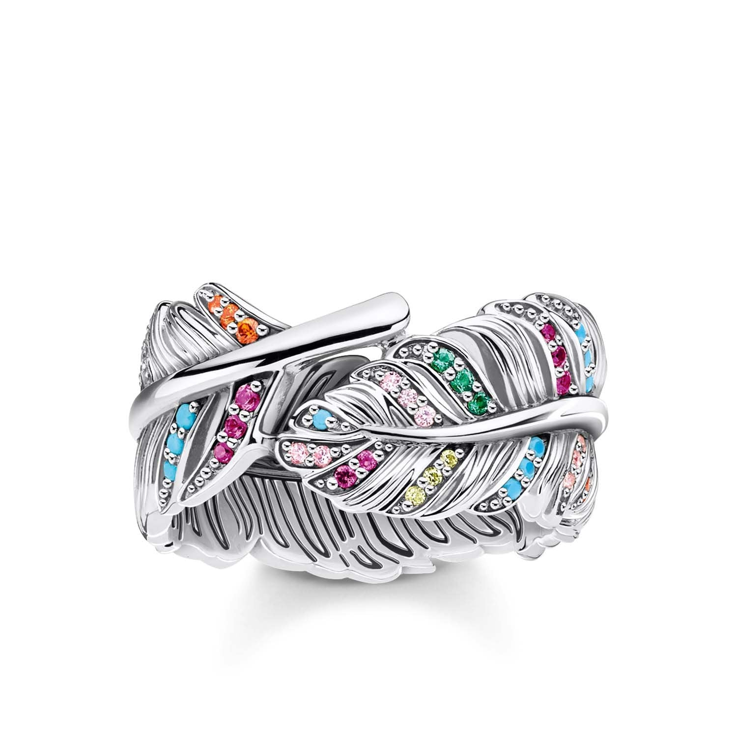 THOMAS SABO Ring Feather Silver