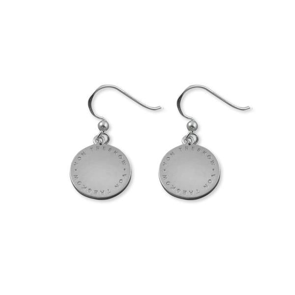 Von Treskow plate earrings on hook