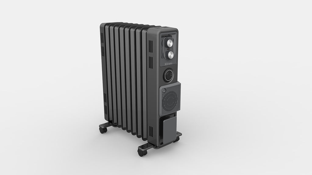 Dimplex 2.4kW Oil Free Column Heater with Timer & Turbo Fan