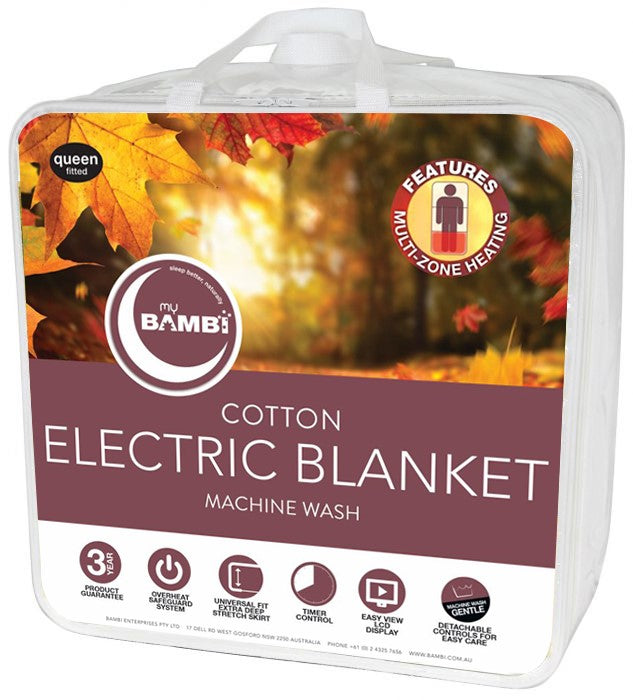 Bambi Cotton Electric Blanket Long Single