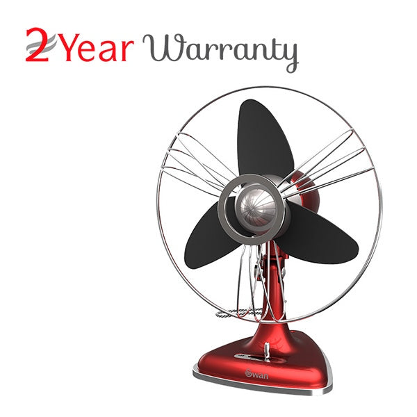 Swan SFA1EDRA Retro Eva Blades Desk Fan 30CM (RED)