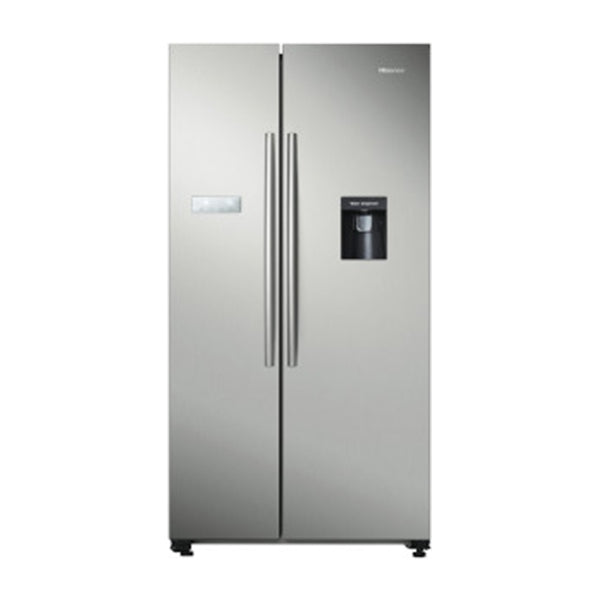 Hisense HR6SBSFF624SW 624L Stainless Steel Side By Side Fridge with Water Dispenser