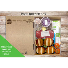 Load image into Gallery viewer, Posh Burger Box (Serves 4 People)
