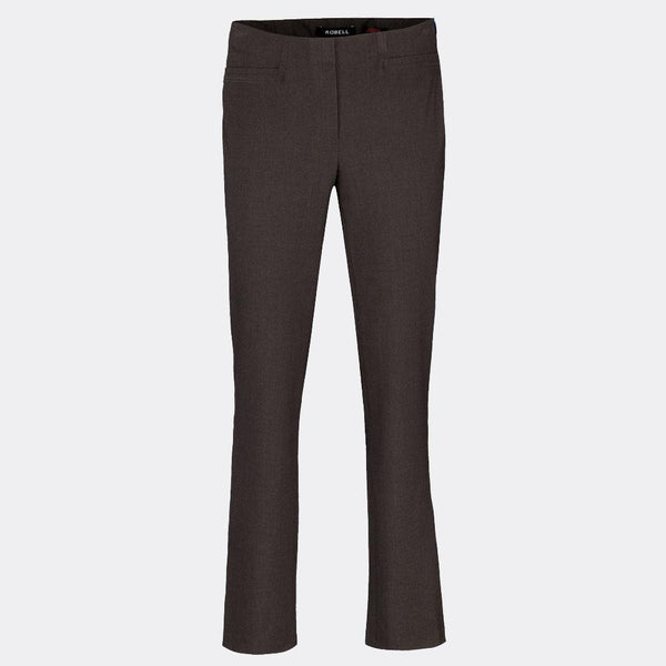 Brown Robell Jacklyn Smart Trouser