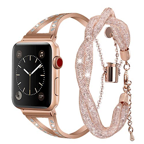 Inno-Huntz Dressy Stainless Steel Bracelets Compatible with Apple Watch