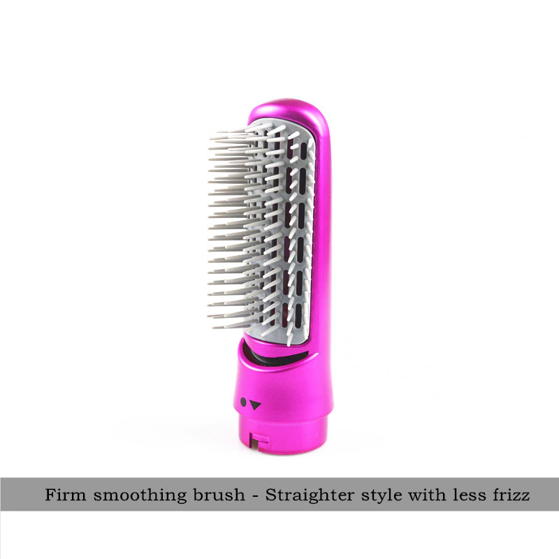 removable smoothing brush for frizzy hair