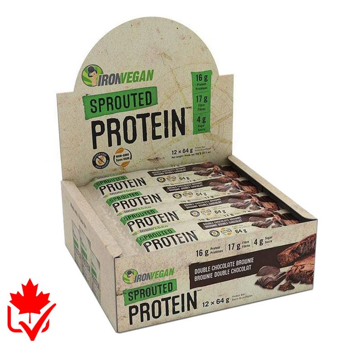 Iron Vegan Sprouted Protein Bar Box of 12