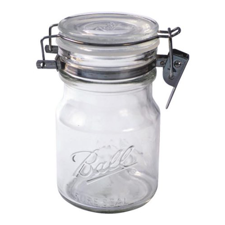 Ball Glass Mason Jar W/ Sure Seal Lid, 14 Ounces