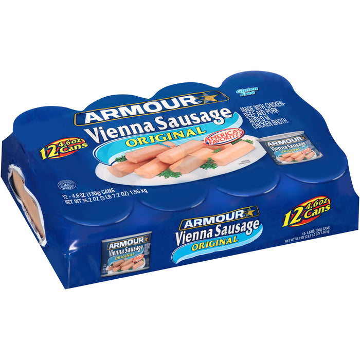 (12 Cans) Armour Original Vienna Sausage 4.6 oz
