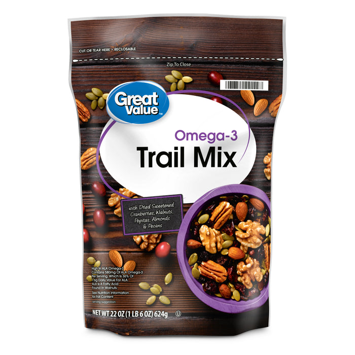 Great Value Omega3 Trail Mix, 22 Oz