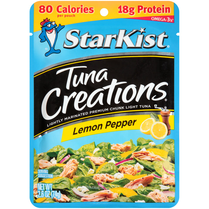StarKist Tuna Creations, Lemon Pepper, 2.6 oz Pouch