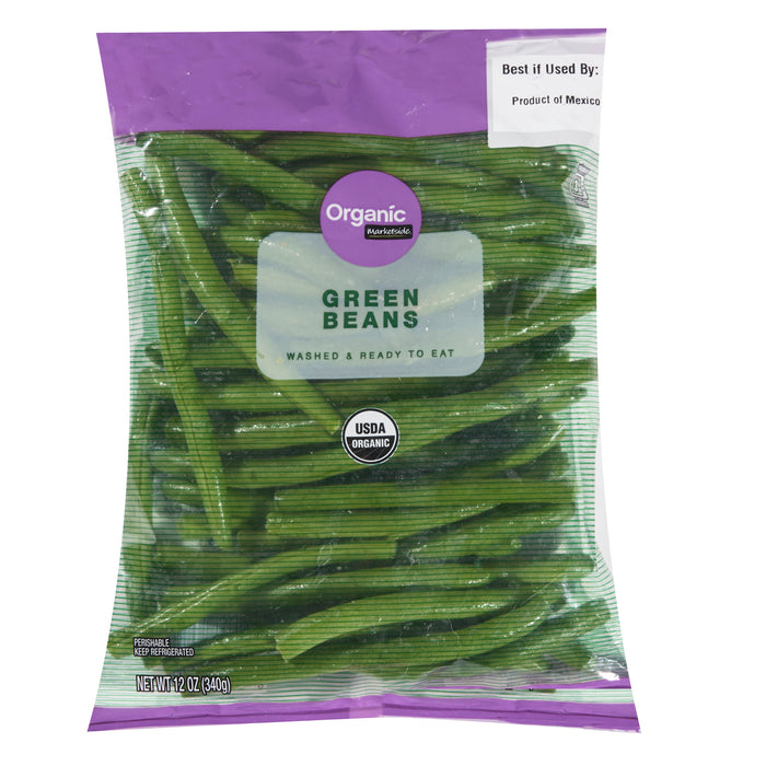 Marketside Organic Green Beans, 12 oz
