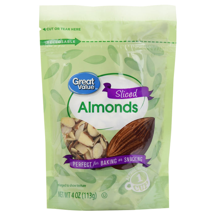 Great Value Sliced Almonds, 4 oz