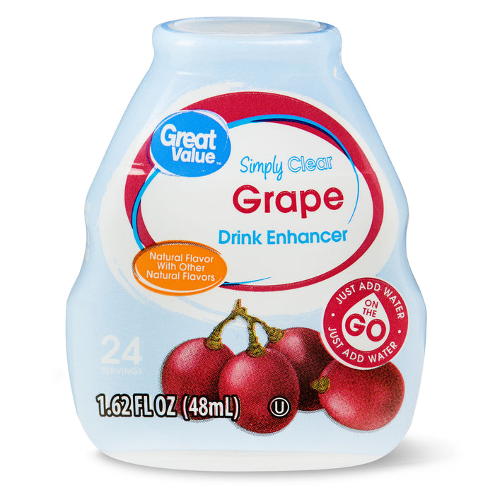 Great Value Simply Clear Grape Drink Enhancer, 1.62 Fl. Oz.