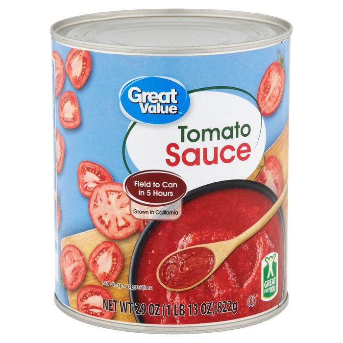 Great Value Tomato Sauce, 28 oz