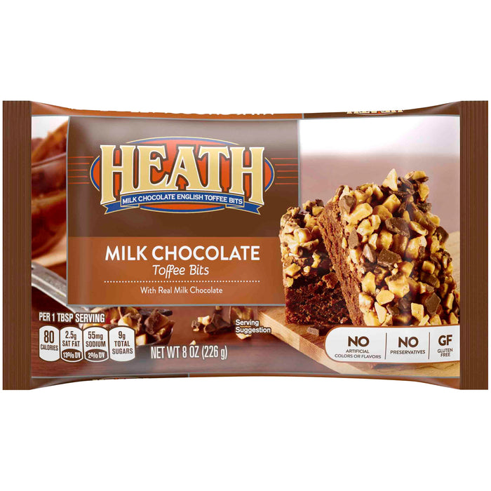 Heath, Milk Chocolate English Toffee Baking Bits, 8 Oz