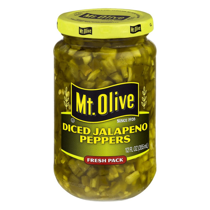 Mt. Olive Diced Jalapeno Fresh Pack Peppers, 12 Oz