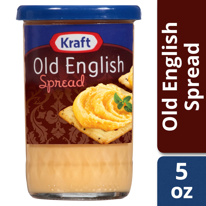 Kraft Old English Sharp Cheddar Cheese Spread, 5 oz Jar