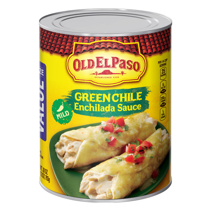 Old El Paso Mild Green Chile Enchilada Sauce, 28 oz