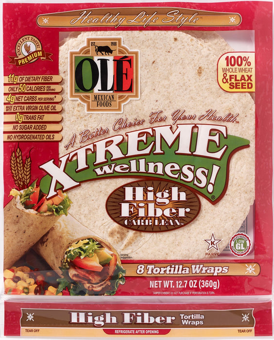 Ole Mexican Ole Xtreme Wellness! Tortilla Wraps, 8 ea