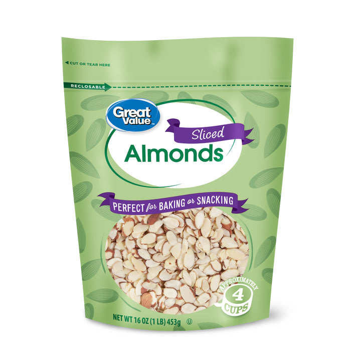 Great Value Sliced Almonds, 16 oz