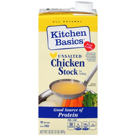 Kitchen Basics All Natural Unsalted Chicken Stock, 32 fl oz