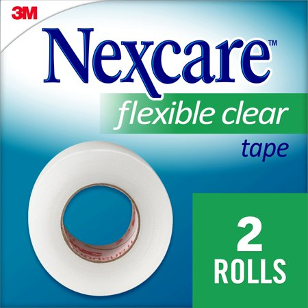 Nexcare Flexible Clear First Aid Tape, Hospital Grade, 2/Rolls