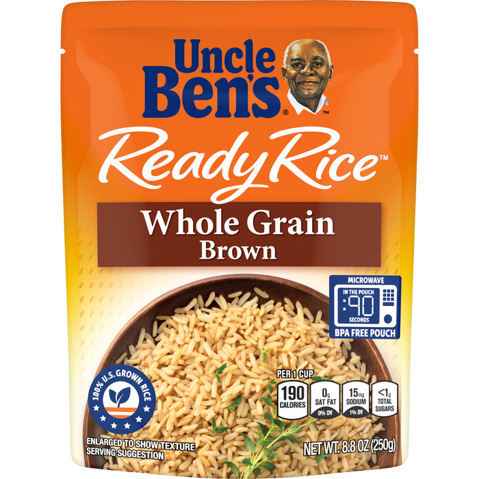 UNCLE BEN'S Ready Rice: Whole Grain Brown, 8.8oz