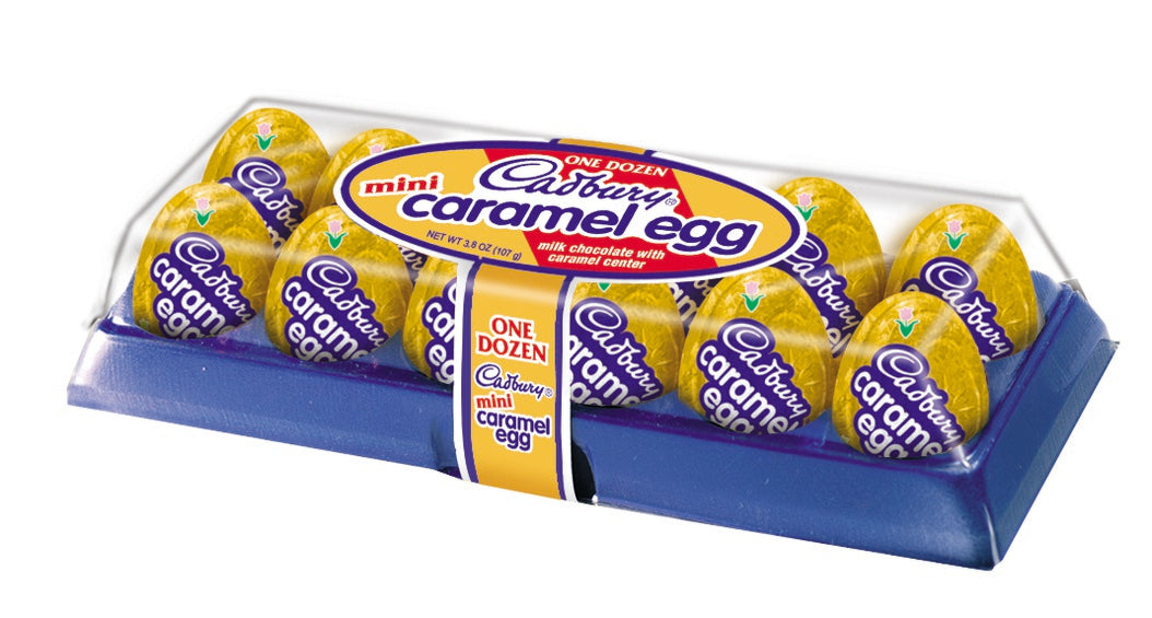 Cadbury, Chocolate and Caramel Mini Easter Eggs Candy, 12 Ct