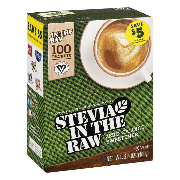 (100 Packets) Stevia in the Raw Zero Calorie Sweetener