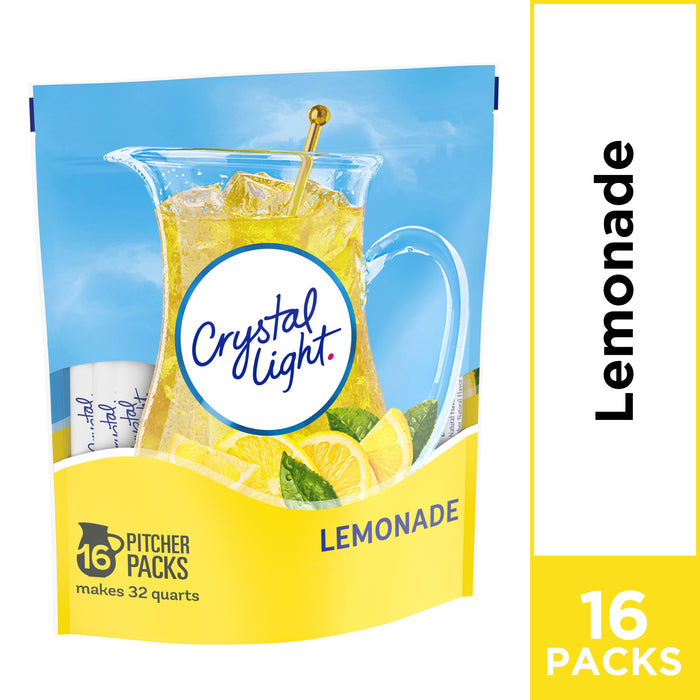 Crystal Light Lemonade Powdered Drink Mix, Caffeine Free, 8.6 oz Pouch