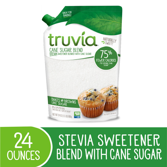 Truvia® Cane Sugar and Stevia Blend 1.5 lb. Bag
