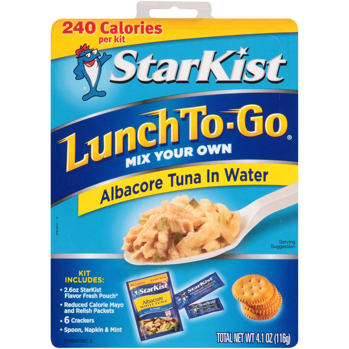 STARKIST Lunch To Go Albacore Tuna in Water, 4.1 oz, 12 Count