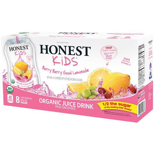 Honest Kids Organic Juice, Berry Berry Good Lemonade, 6.75 Fl Oz, 8 Count