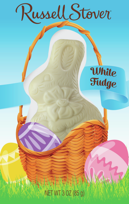 Russell Stover White Pastelle Solid Easter Bunny, 3 Oz.