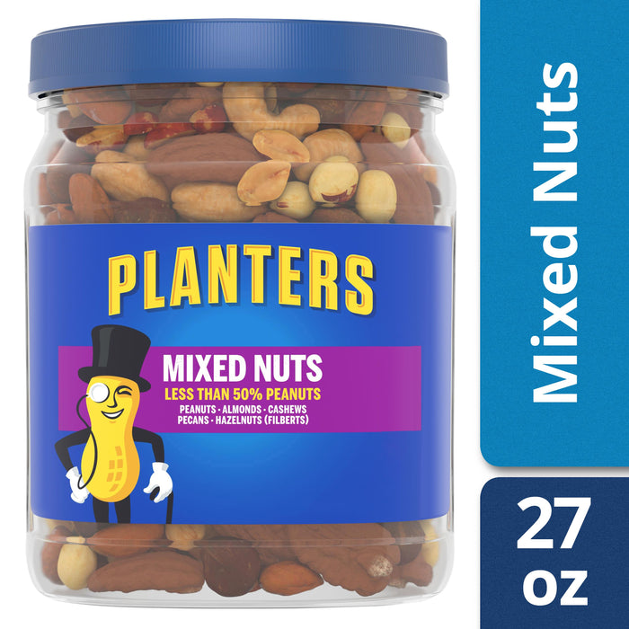Planters Mixed Nuts, 27.0 oz Jar